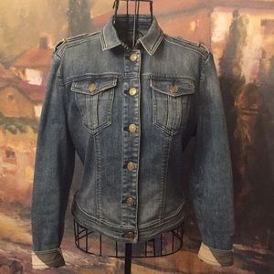 Authentic Burberry Brit Fitted Denim Jacket